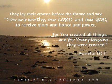 treasures at His feet