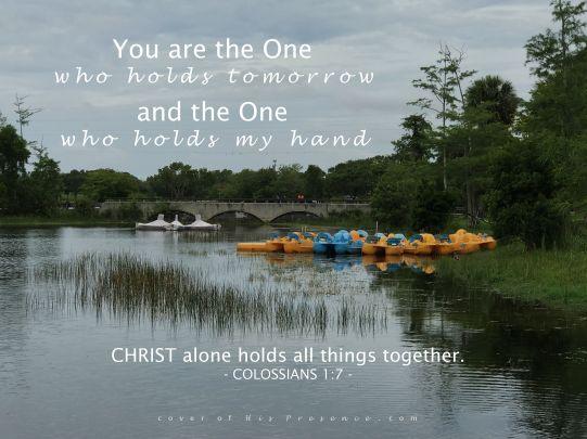 He holds tomorrow