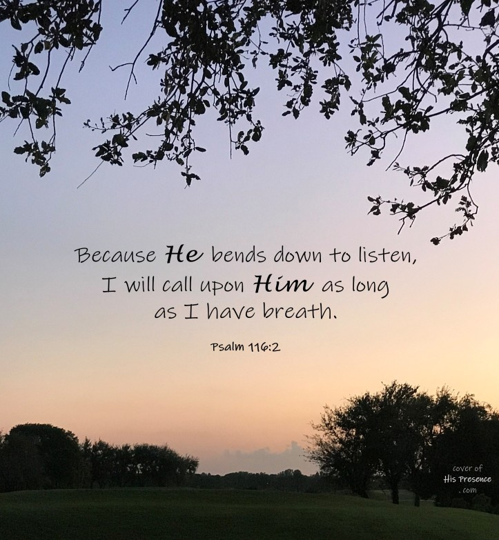 He bends to listen
